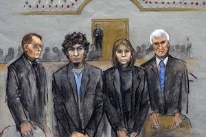 Boston Marathon Bomber Shows Emotion as Aunt Breaks Down on Stand